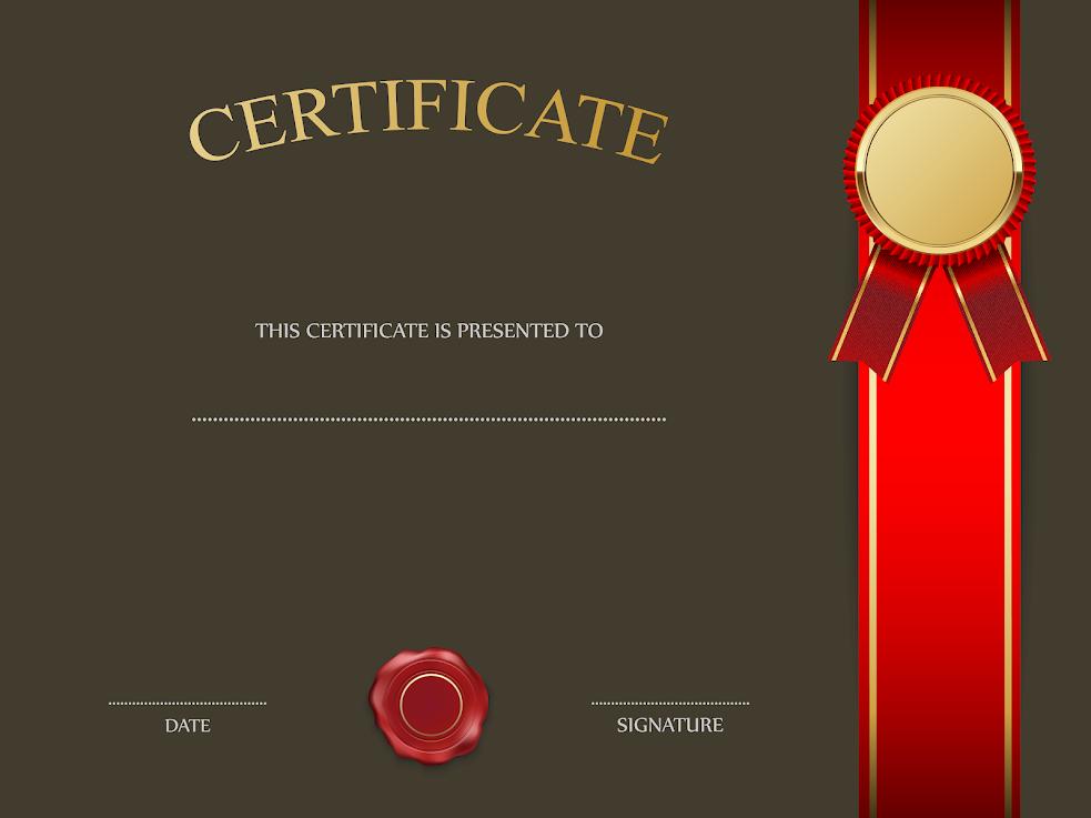 Brown Certificate Template RaBPKE8B8JdL0JckoxD2