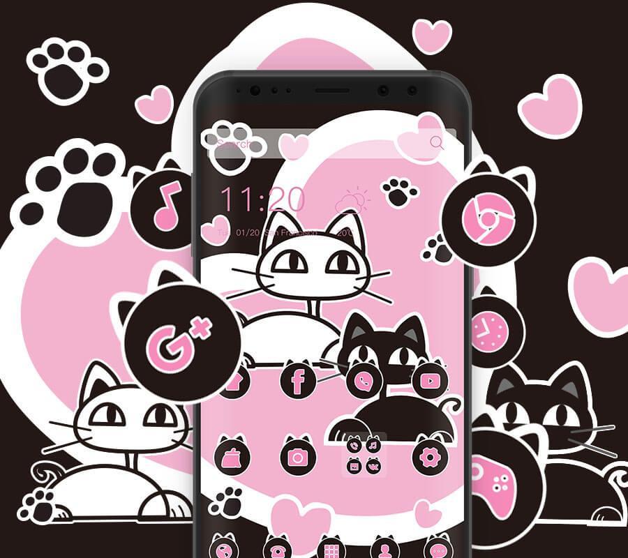 RaBTHnpA GwCwZUwW3JILYqtQNiMl1MTIjZ9frDG0cDzzXfhSGrVoC0AtUtSsiSCl c=h1024 no tmp lucu kucing hitam dan putih tema wallpaper manis apk poster