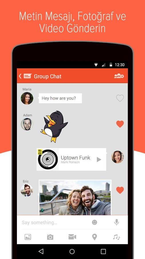 Tango Mesaj, Ses & Görüntü- ekran görüntüsü