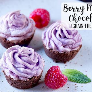 Berry Meringue and Chocolate Tarts (grain-free & gluten-free).