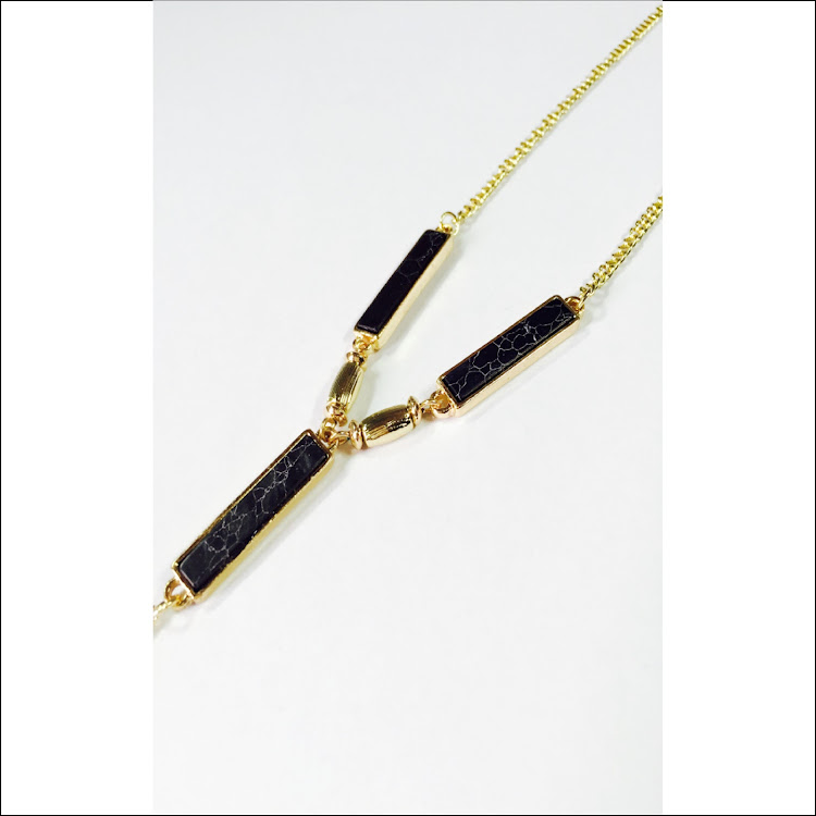 N034 - G. Foursome Bar Lariat Necklace
