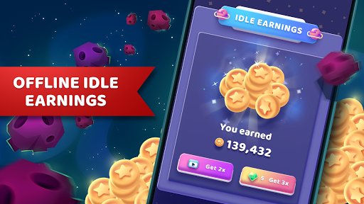 Code Triche Moonies - Merge Planets And Master The Idle Galaxy APK MOD screenshots 5