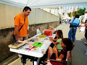 Photo: Taller de còmic reciclat de Ferran Cerdans Serra a la Fira del conte de Medinyà 2013