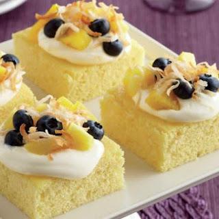 Tropical Cake Squares