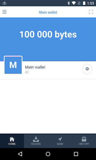 Byteball 2.1.0 screenshots 1