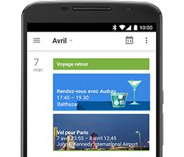 Google Agenda screenshot