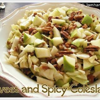 Sweet and Spicy Apple & Pecan Coleslaw Recipe
