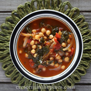 CHICKPEA & SPINACH GINGER TOMATO SOUP