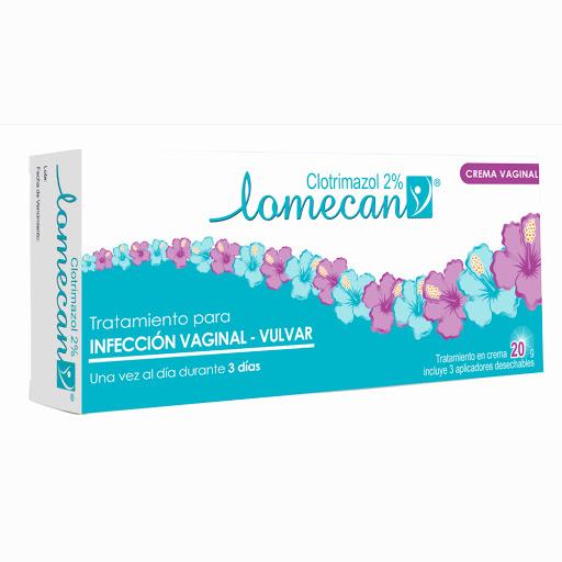 Lomecan Crema Vaginal Antimicotico Clotrimazol 20 G