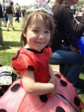 Photo: Fianna in a dress borrowed from Georgia.