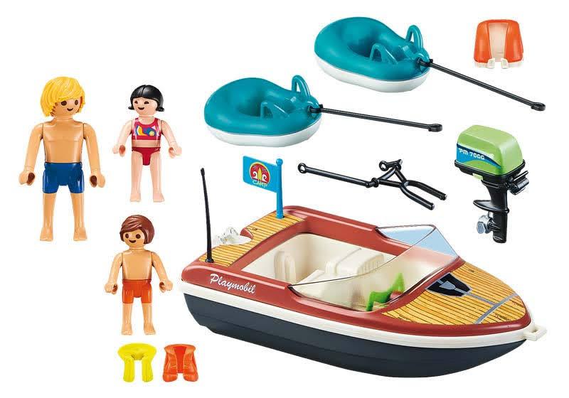 Contenido real de Playmobil® 70091 Lancha con Flotadores