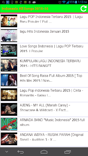 Indonesia All Songs 2015