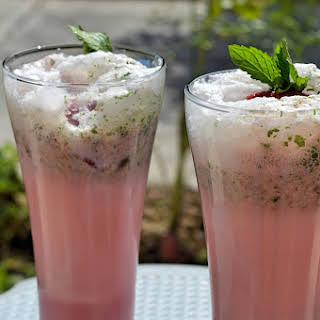Strawberry Minty Smoothie.
