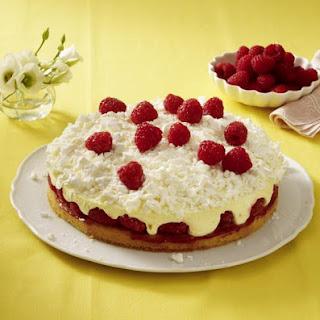 Raspberry Snowball Cake