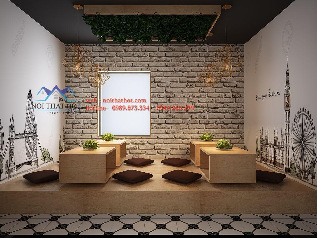 thiết kế quán trà sữa Samcha 10