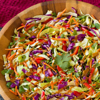Thai Slaw with Peanut Dressing