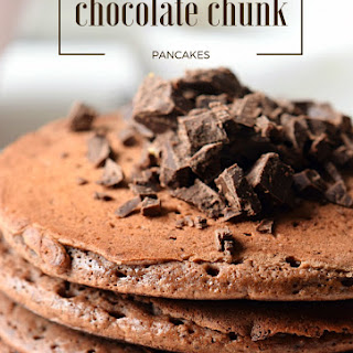 Double Chocolate Chunk Pancakes.
