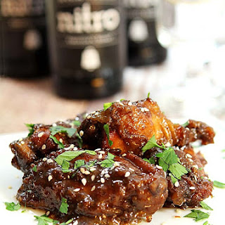 Slow Cooker Sweet, Spicy and Sticky Chicken Wings.