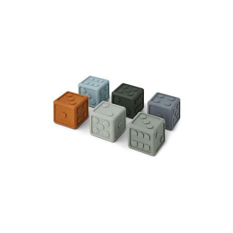 Liewood Dices 6 Pack - Blue multi mix
