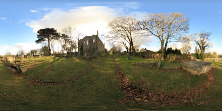 Photo: A photosphere of the northern and eastern elevations of the Old Church in Saint Day, Cornwall. #photosphere #Cornwall