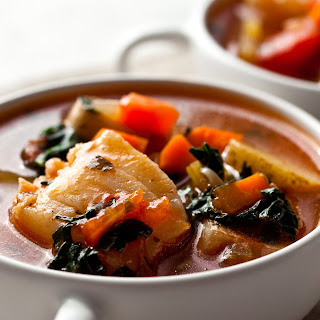 Mediterranean Fish Chowder With Potatoes and Black Kale