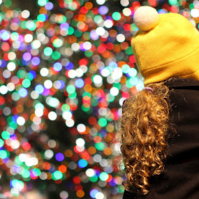 Madison Square Garden by Jesse Hebert - Babies & Children Children Candids ( colors, art, christmas, children, new york, nyc, bokeh, colours, lights, colour, child, girl, winter, tree, color, christmas tree, new york city, baby )