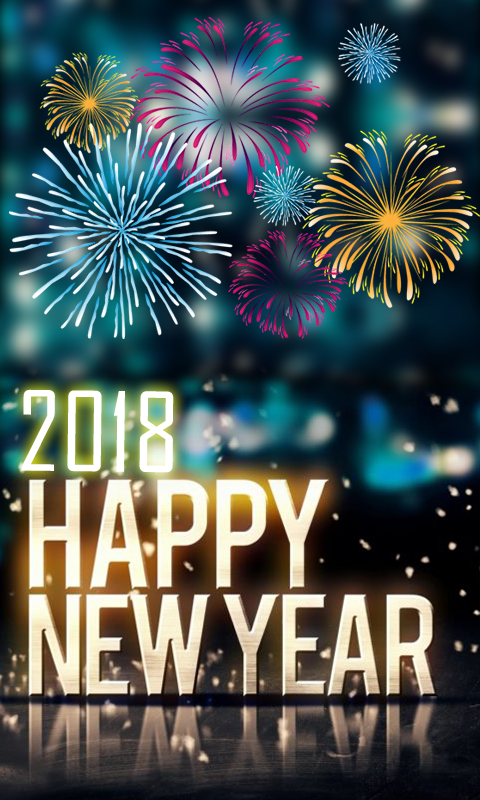 New Year 2018 Sparks Wallpaper APK