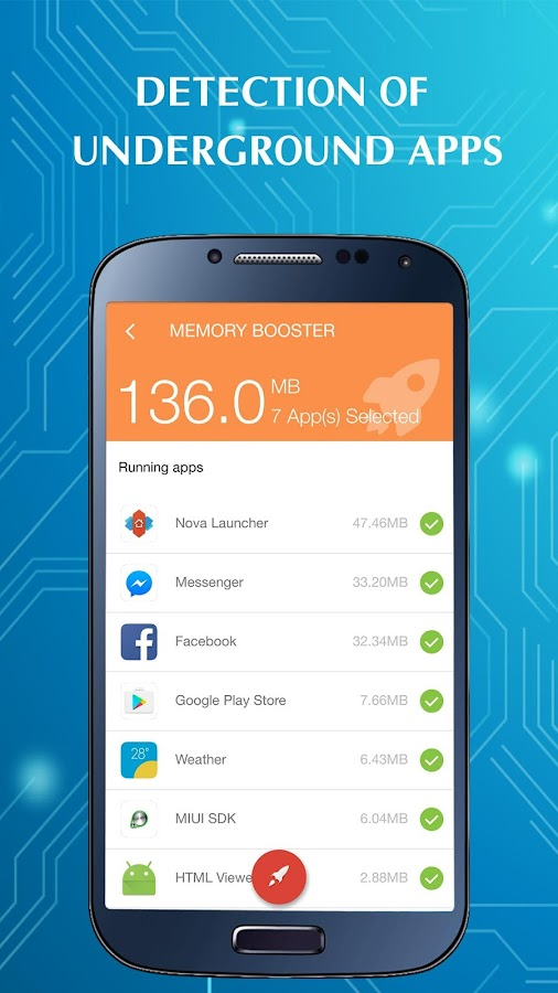 RAM Cleaner & Speed Booster (Memory Booster)- screenshot