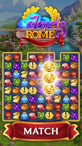 Jewels of Rome: Match gems to restore the city androidiapk screenshots 1
