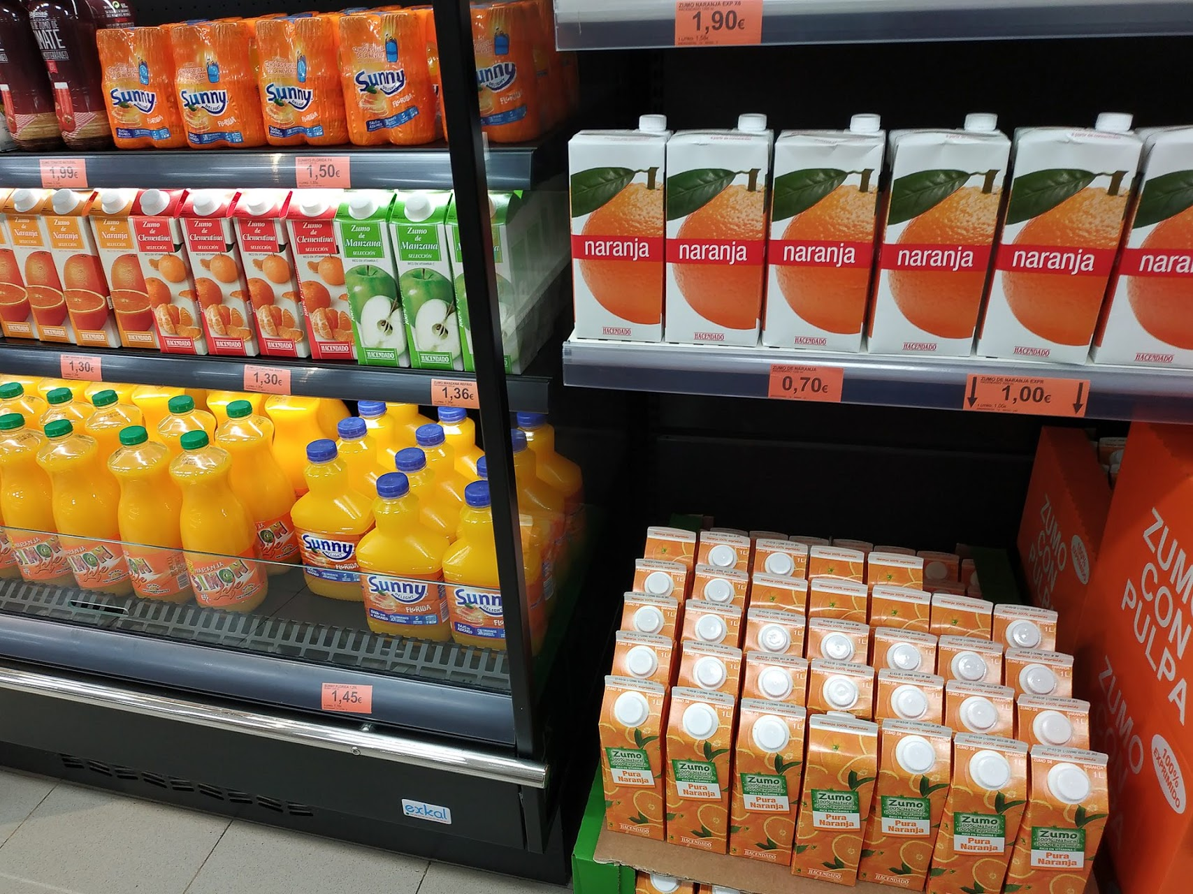 Апельсиновые и мандариновые соки.