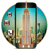 3D new York Empire State Building Theme