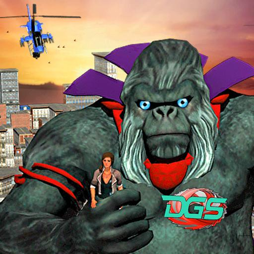 Wild Apes City Attack Revenge:Mad Gorilla Rampage file APK Free for PC, smart TV Download
