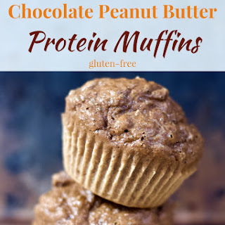 Chocolate Peanut Butter Protein Muffins.
