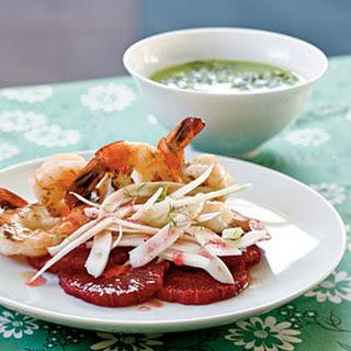 Shrimp Salad with Blood Oranges and Slivered Fennel Recipe
