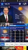 Screenshot of FOX23 Weather