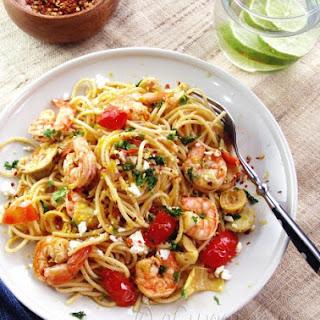 Pasta with Shrimp, Artichokes and Feta Recipe