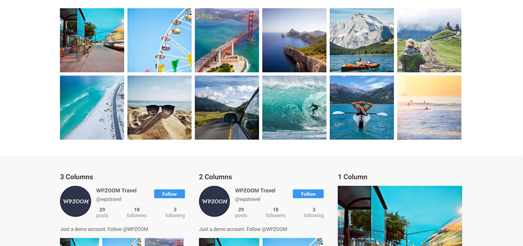 plugin instagram widget by wpzoom para wordpress