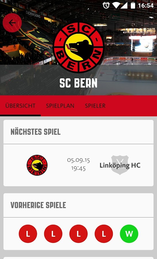 SC Bern- screenshot
