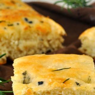 Homemade Traditional Italian Focaccia Bread with Rosemary