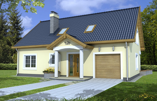 projekt Ala II wersja A z pojedyńczym garażem