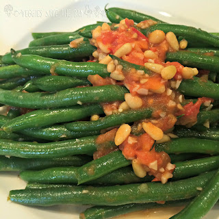 Sauteed Green Beans with Tomato, Garlic, and Pine Nuts.