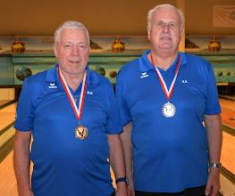 Photo: Senioren-Doppel – 2. Platz: Walter Mayr/Rudolf Dornetshuber (BC Ansfelden1)