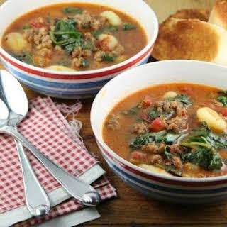 Italian Gnocchi Soup.