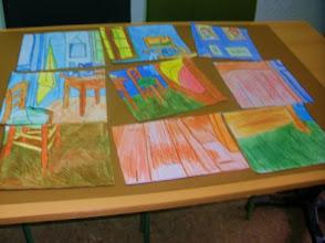 """Photo: Composición grupal Van Gogh """"La Habitación de Arlés"""" Alumnado 5º B"""