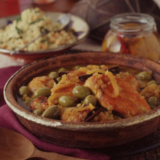 Chicken with Preserved Lemon and Olives.