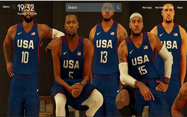 NBA 2K17 Game Wallpapers NewTab Theme