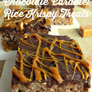 Chocolate Caramel Rice Krispy Treats.