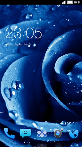 Blue Rose CLauncher Theme