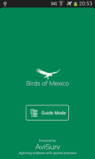 Bird field guide to Mexico