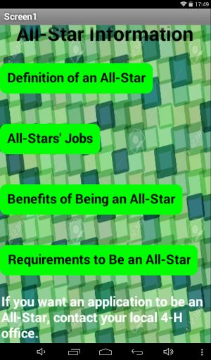 4-H All-Star Information